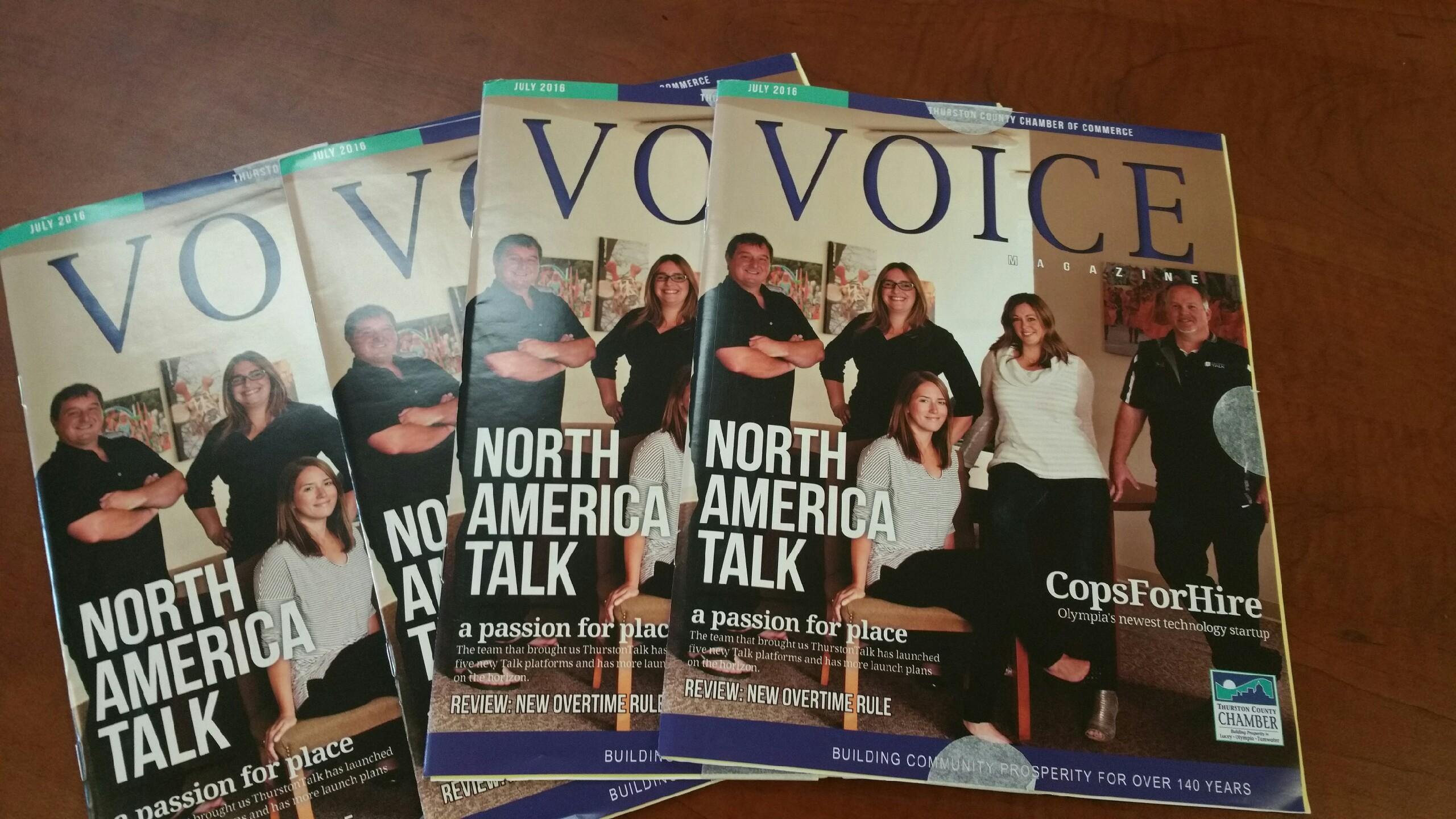 NorthAmericaTalk Hits Magazine Cover