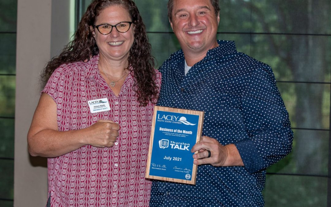 Lacey South Sound Chamber Recognizes ThurstonTalk for its Community Support Through Business Award